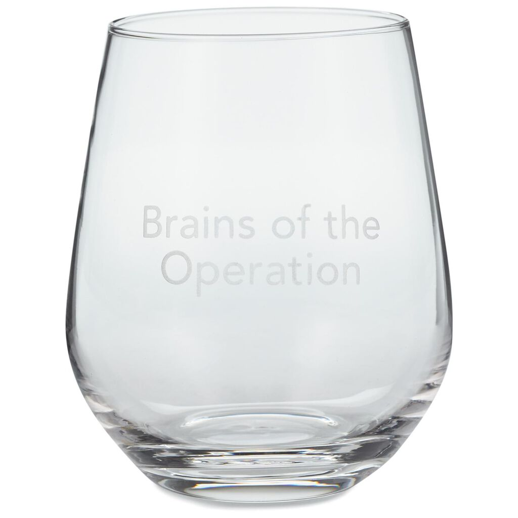 8d521bdd940 Brains of the Operation Stemless Wine Glass, 20 oz.