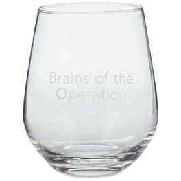 Brains of the Operation Stemless Wine Glass, 20 oz., , large