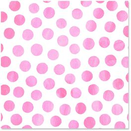 Pink Watercolor Dots Wrapping Paper Roll, 27 sq. ft., , large