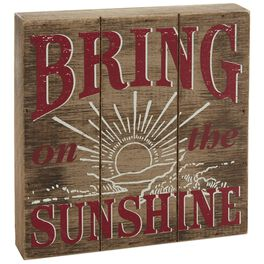 Sunshine 8x8 Rustic Wooden Sign, , large