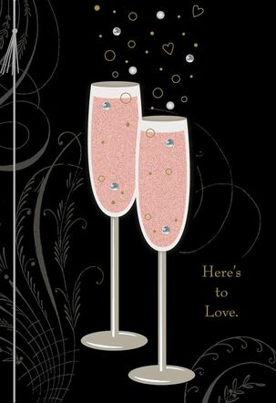 Here's to Love Wedding Card