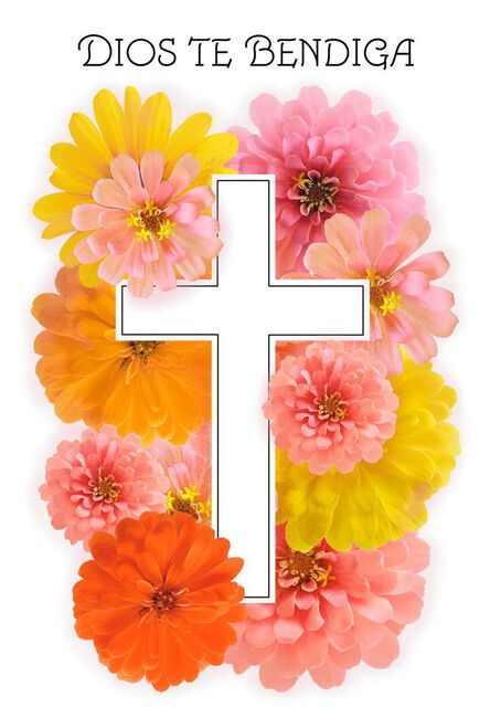 Cross with flowers spanish language easter cards pack of 6 boxed cross with flowers spanish language easter cards m4hsunfo