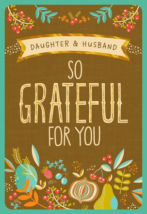 So Grateful for You Thanksgiving Card with Customizable Family Recipient Stickers
