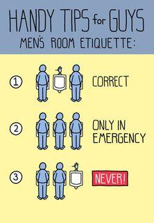 Manly Bathroom Etiquette Funny Birthday Card,