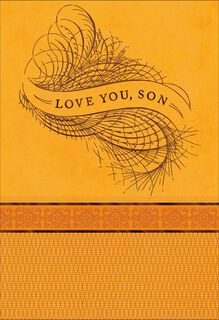 Love You, Son Thanksgiving Card,