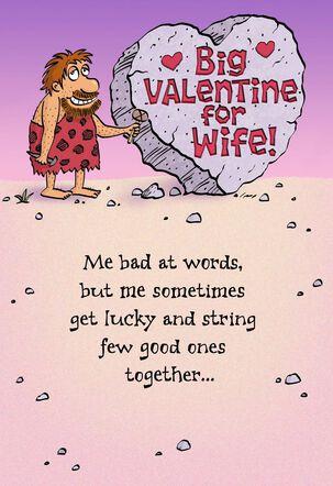 Bearded Caveman Big Valentine For Wife Valentine's Day Card