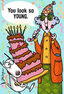 So Young Funny Birthday Card,