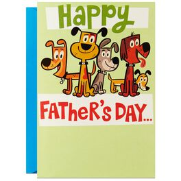 Love for Dad from the Dog-Loving Pack Father's Day Card, , large