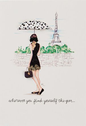 Paris Scene Enjoy Every Day Birthday Card