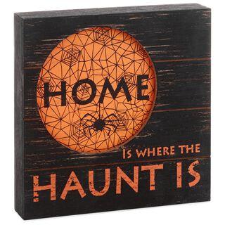 halloween home rustic wood sign - Hallmark Halloween Decorations
