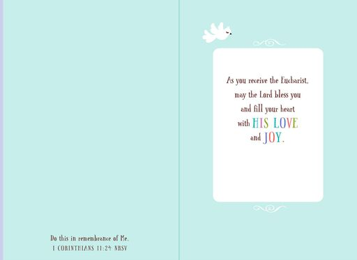 For a Sweet Girl Religious First Communion Card,