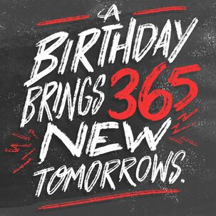 New Tomorrows Musical Birthday Card