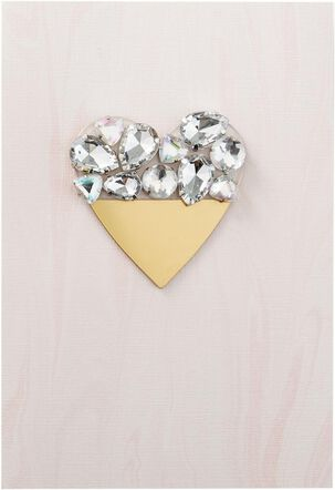 Jeweled Heart Valentine's Day Card