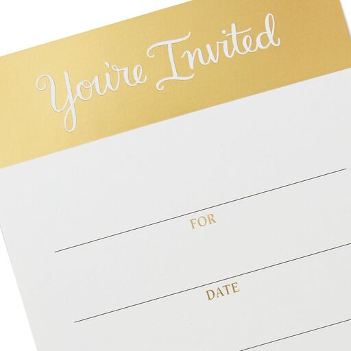youre invited gold border party invitations