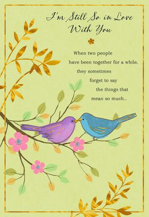 Still So in Love Birds on Branch Love Card