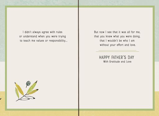 Leaves and Gratitude Father's Day Card,