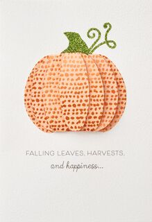 Harvest and Happiness Autumn Card,