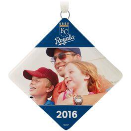 Kansas City Royals™ Ceramic Personalized Ornament, Diamond-Shaped, , large