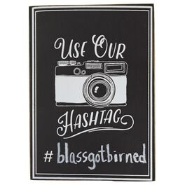 Mud Pie® Use Our Hashtag Wedding Photos Sign, , large