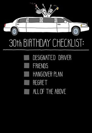 30th Birthday Checklist