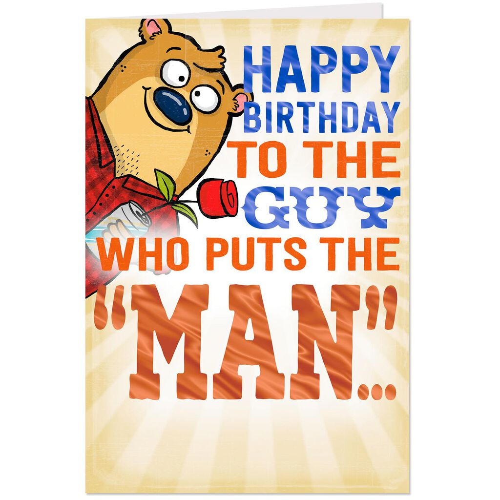 Romantic Man Funny Pop Up Birthday Card