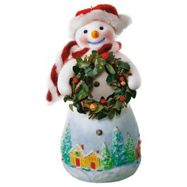 Snowtop Lodge Benny M. Merrymaker With Wreath Ornament, , large