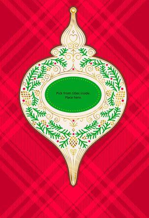 Ornament Pick-a-Title Christmas Card for Grandma