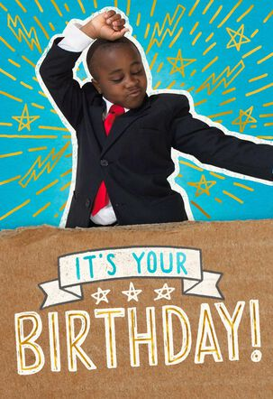 Kid President Reason to Dance Kid's Birthday Card