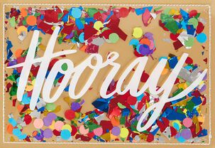 Hooray Confetti Congratulations Card