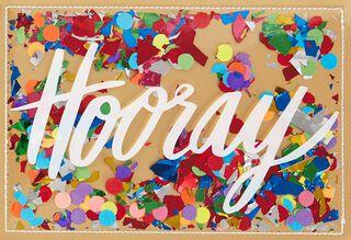 Hooray Confetti Congratulations Card,