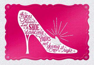 Lose a Shoe Cinderella Birthday Card,