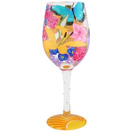 Lolita® Spring 2017 Handpainted Wine Glass, 15 oz., , large