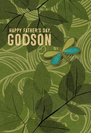 Dragonfly Father's Day Card for Godson