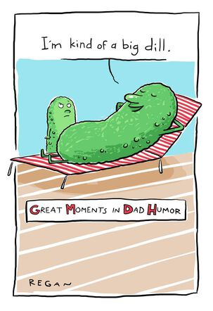 Big Dill Pickle Humor Father's Day Card