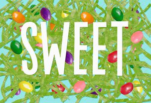 Sweet Jelly Beans Easter Card