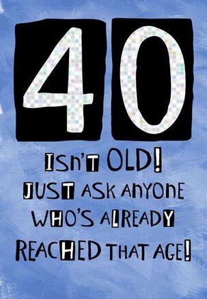 Good Ear 40th Birthday Card