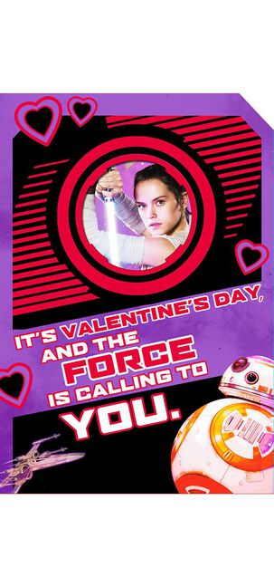 Rey™ and BB-8™ Valentine's Day Sound Card