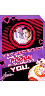 Rey™ and BB-8™ Valentine's Day Sound Card,