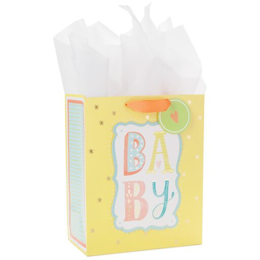 d0d972a452d6 Baby Block Large Gift Bag With Tag and Tissue