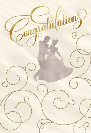Disney Cinderella Happily Ever After Wedding Card
