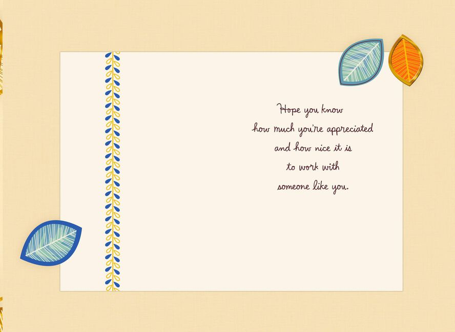 thanks for helping me succeed boss s day card greeting cards
