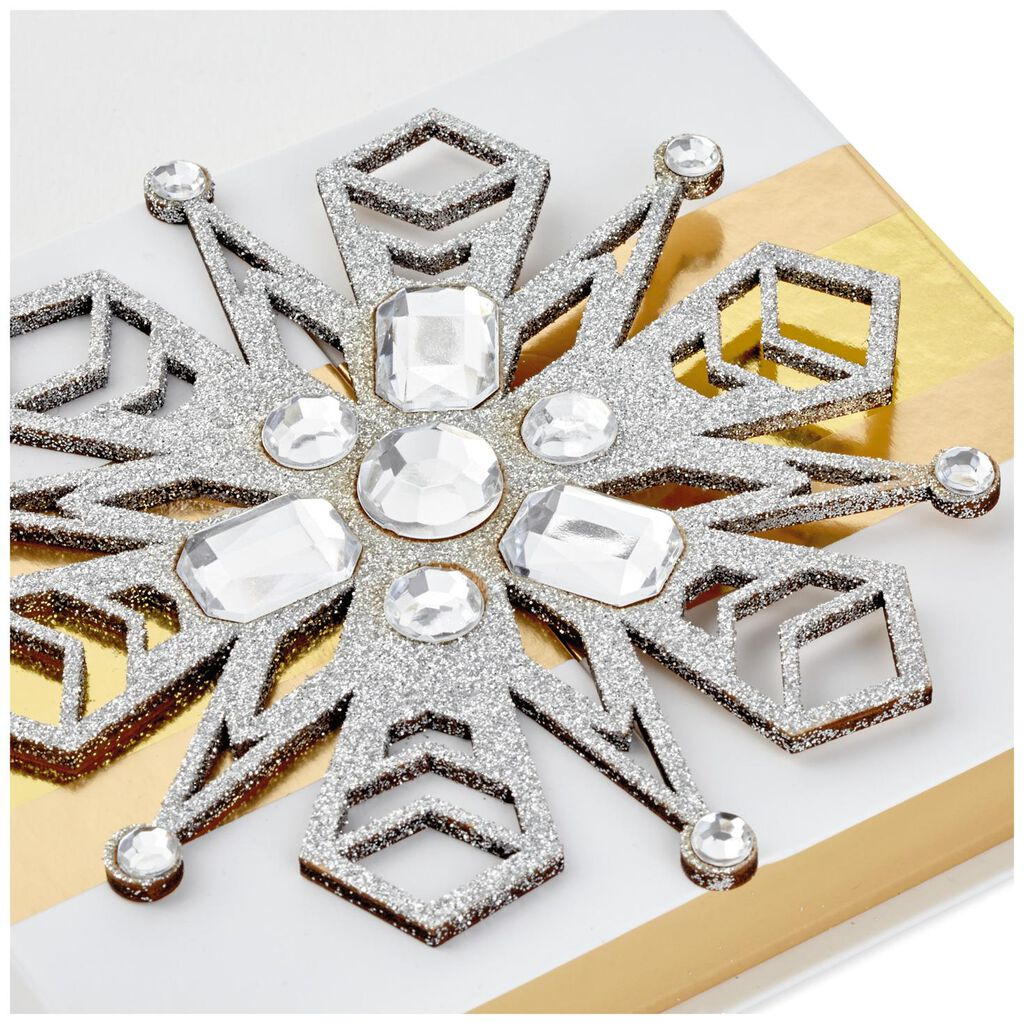 White With Snowflake Christmas Gift Card Holder Box, 5.25\