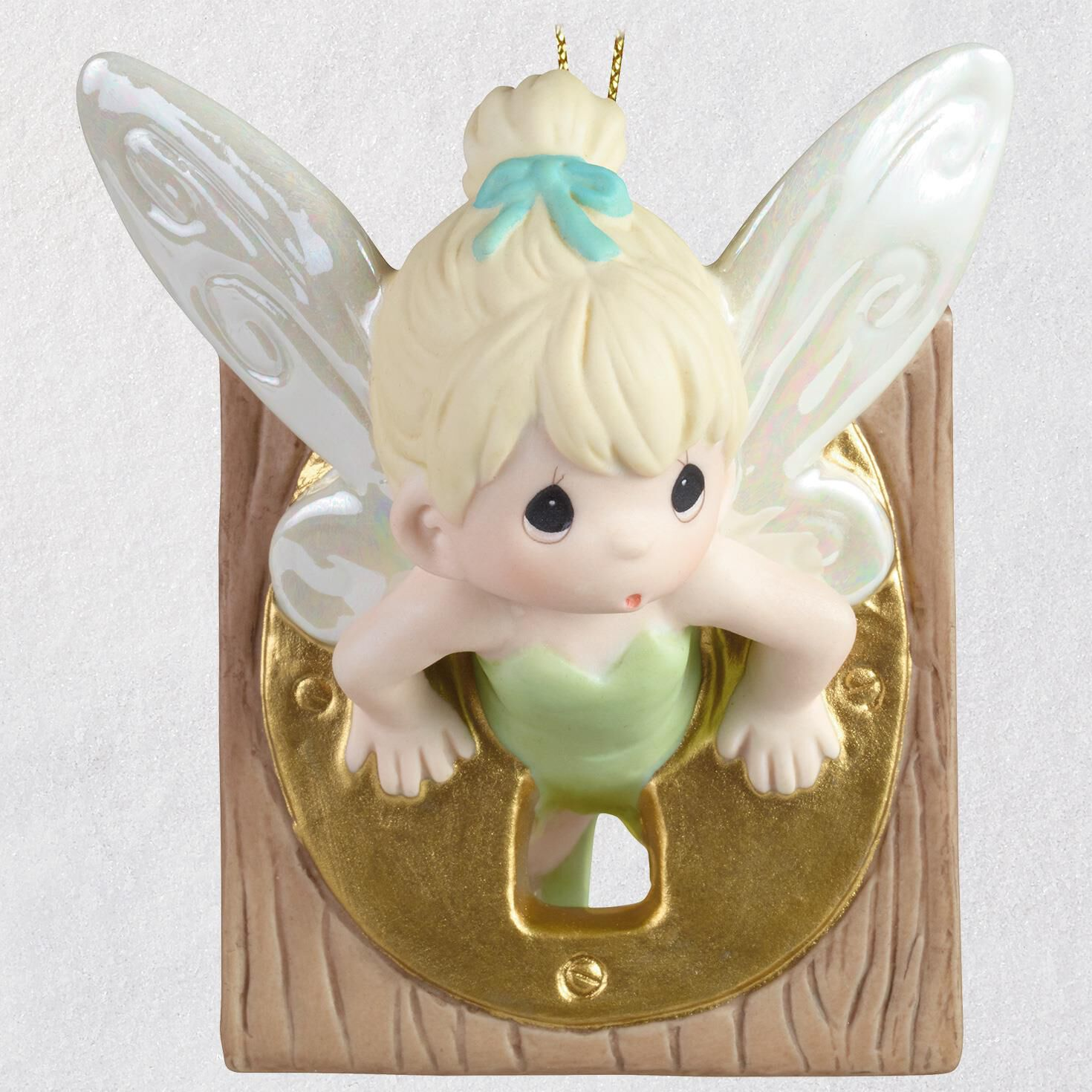 Disney Peter Pan Tinker Bell Precious Moments® Porcelain Ornament ...