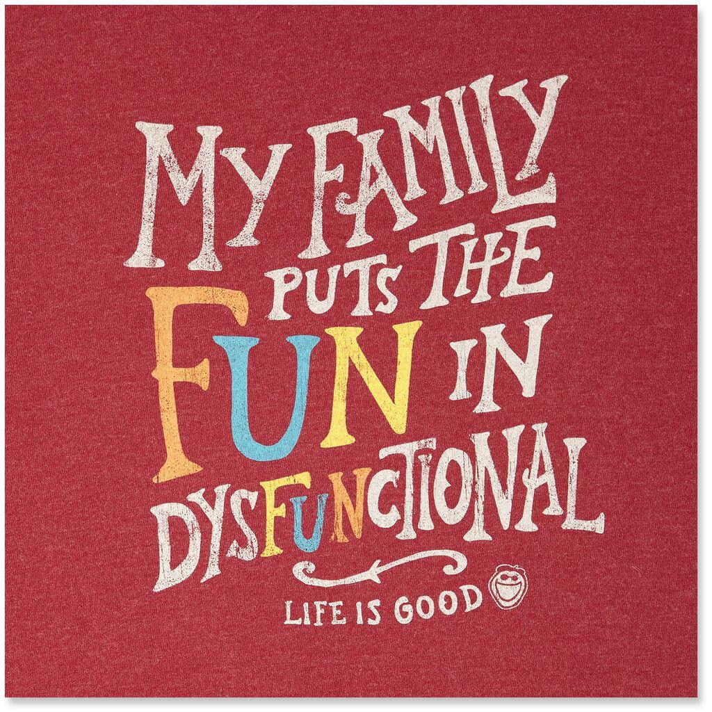 life is good men s dysfunctional fun long sleeve t shirt clothing