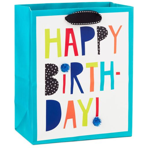 Happy Birthday Colorful Letters Medium Gift Bag 95