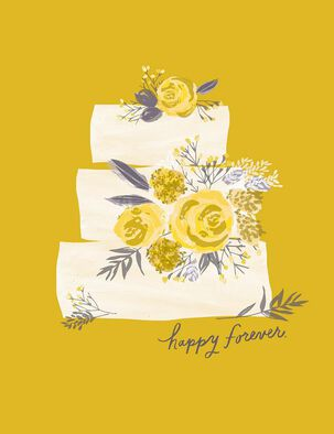 Happy Forever Layer Cake Wedding Card