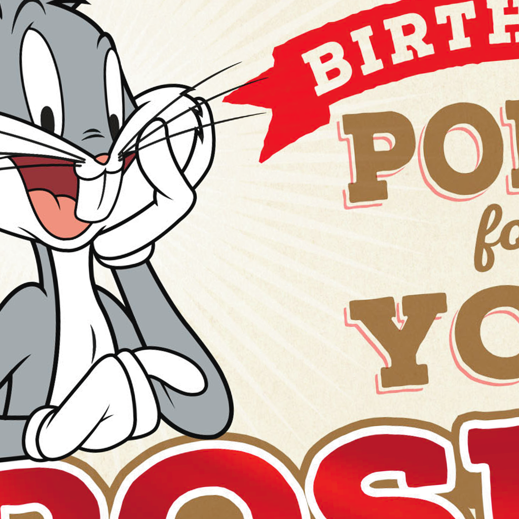 Looney TunesTM Bugs Bunny Roses Are Red Birthday Card