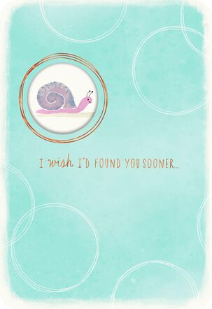 Snail and Turtle Romantic Love Card