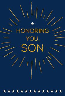 Honoring My Son Veterans Day Card,
