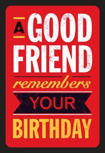 Happy Somethingth Friend Birthday Card